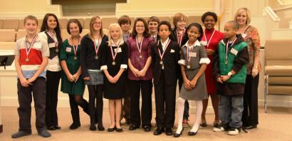 Debate medalists and their teachers
